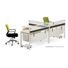 L-Form Laminierte Holz und Aluminium Full Set Workstation mit Modesty Panel